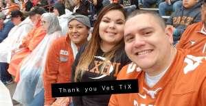 Orlando attended University of Texas Longhorns vs. Texas Tech Red Raiders - NCAA Football on Nov 29th 2019 via VetTix