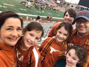Wesley attended University of Texas Longhorns vs. Texas Tech Red Raiders - NCAA Football on Nov 29th 2019 via VetTix