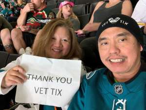 Raul attended San Jose Sharks vs. Minnesota Wild - NHL on Nov 7th 2019 via VetTix