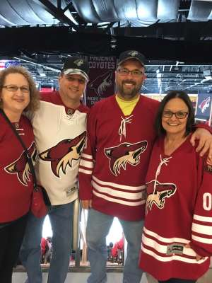 Randy attended Arizona Coyotes vs. Minnesota Wild - NHL ** Military Appreciation Night ** on Nov 9th 2019 via VetTix