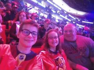 Andres attended Florida Panthers vs. Detroit Red Wings - NHL on Nov 2nd 2019 via VetTix