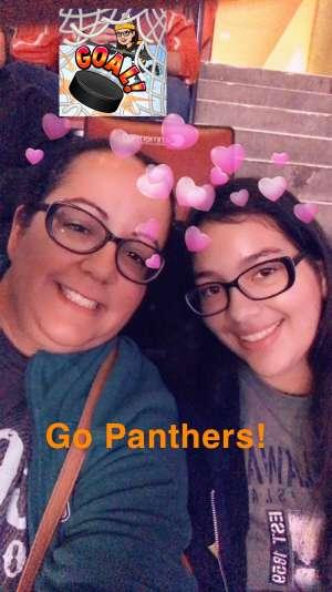 Tiffany B attended Florida Panthers vs. Detroit Red Wings - NHL on Nov 2nd 2019 via VetTix