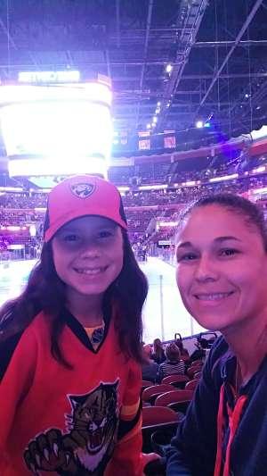 Melisa attended Florida Panthers vs. Detroit Red Wings - NHL on Nov 2nd 2019 via VetTix