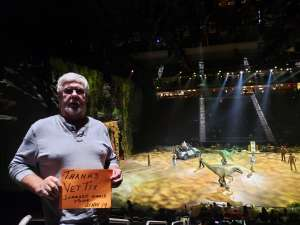 Joseph attended Jurassic World Live Tour on Nov 21st 2019 via VetTix