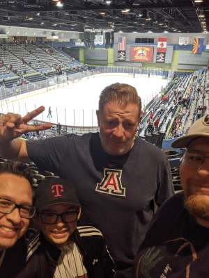 Josh attended Tucson Roadrunners vs. Stockton Heat - AHL on Nov 9th 2019 via VetTix
