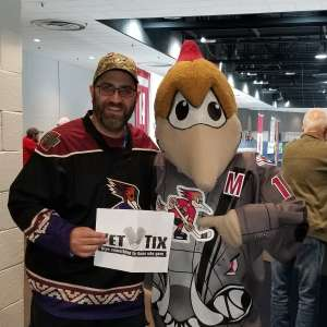 John attended Tucson Roadrunners vs. Stockton Heat - AHL on Nov 9th 2019 via VetTix