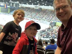 Jeremy attended Tucson Roadrunners vs. Stockton Heat - AHL on Nov 9th 2019 via VetTix