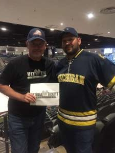 Thomas attended Tucson Roadrunners vs. Stockton Heat - AHL on Nov 9th 2019 via VetTix