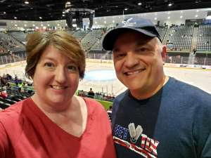 Dave & Qnn Lomack attended Tucson Roadrunners vs. Stockton Heat - AHL on Nov 9th 2019 via VetTix
