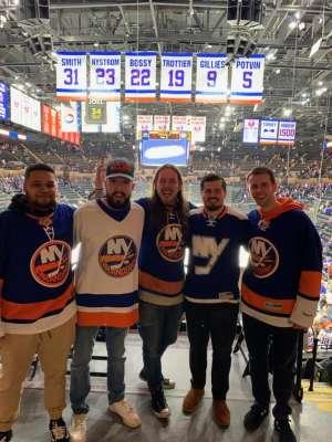 Paul attended New York Islanders vs. Tampa Bay Lightning - NHL ** Military Appreciation Night ** on Nov 1st 2019 via VetTix