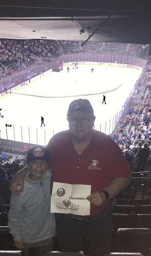 Jim K attended New York Islanders vs. Tampa Bay Lightning - NHL ** Military Appreciation Night ** on Nov 1st 2019 via VetTix