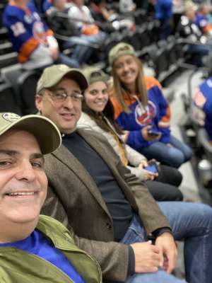 Thomas attended New York Islanders vs. Tampa Bay Lightning - NHL ** Military Appreciation Night ** on Nov 1st 2019 via VetTix