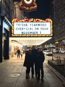 Brian attended Trisha Yearwood on Nov 7th 2019 via VetTix