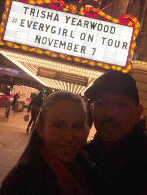 Eddie attended Trisha Yearwood on Nov 7th 2019 via VetTix