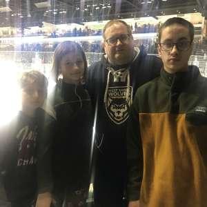 Chaz attended Michigan State Spartans vs. Arizona State - NCAA Men's Ice Hockey on Dec 14th 2019 via VetTix