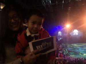 Sergio attended Jurassic World Live Tour on Nov 9th 2019 via VetTix