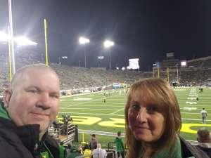 Keith attended University of Oregon Ducks vs. University of Arizona Wildcats - NCAA Football on Nov 16th 2019 via VetTix