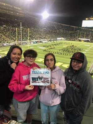 jacob attended University of Oregon Ducks vs. University of Arizona Wildcats - NCAA Football on Nov 16th 2019 via VetTix