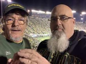 David attended University of Oregon Ducks vs. University of Arizona Wildcats - NCAA Football on Nov 16th 2019 via VetTix