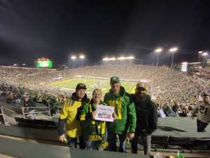 Mandi attended University of Oregon Ducks vs. University of Arizona Wildcats - NCAA Football on Nov 16th 2019 via VetTix
