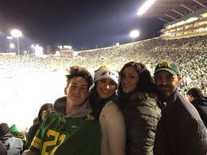 Paul S. attended University of Oregon Ducks vs. University of Arizona Wildcats - NCAA Football on Nov 16th 2019 via VetTix
