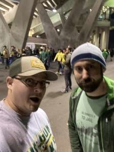 Rusty attended University of Oregon Ducks vs. University of Arizona Wildcats - NCAA Football on Nov 16th 2019 via VetTix