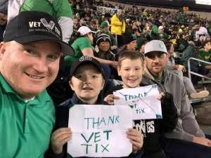 Ben attended University of Oregon Ducks vs. University of Arizona Wildcats - NCAA Football on Nov 16th 2019 via VetTix