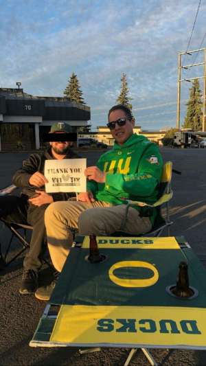 Richard attended University of Oregon Ducks vs. University of Arizona Wildcats - NCAA Football on Nov 16th 2019 via VetTix