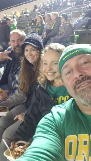 Joseph attended University of Oregon Ducks vs. University of Arizona Wildcats - NCAA Football on Nov 16th 2019 via VetTix