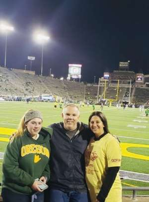J.D attended University of Oregon Ducks vs. University of Arizona Wildcats - NCAA Football on Nov 16th 2019 via VetTix
