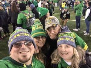 Matthew attended University of Oregon Ducks vs. University of Arizona Wildcats - NCAA Football on Nov 16th 2019 via VetTix