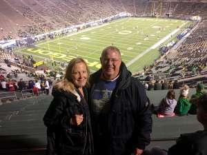 James attended University of Oregon Ducks vs. University of Arizona Wildcats - NCAA Football on Nov 16th 2019 via VetTix