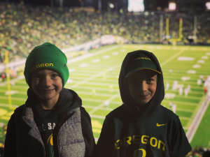 Ryan attended University of Oregon Ducks vs. University of Arizona Wildcats - NCAA Football on Nov 16th 2019 via VetTix