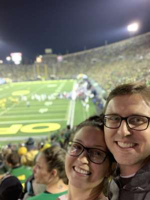 Alan attended University of Oregon Ducks vs. University of Arizona Wildcats - NCAA Football on Nov 16th 2019 via VetTix