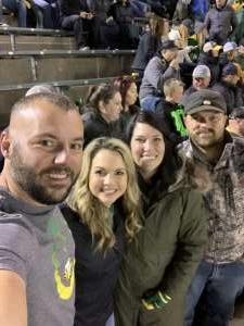 Ty attended University of Oregon Ducks vs. University of Arizona Wildcats - NCAA Football on Nov 16th 2019 via VetTix