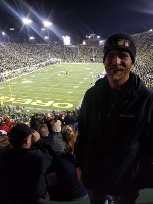 Adam attended University of Oregon Ducks vs. University of Arizona Wildcats - NCAA Football on Nov 16th 2019 via VetTix
