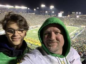 David attended University of Oregon Ducks vs. University of Arizona Wildcats - NCAA Football on Nov 16th 2019 via VetTix