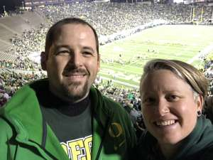 Michelle attended University of Oregon Ducks vs. University of Arizona Wildcats - NCAA Football on Nov 16th 2019 via VetTix