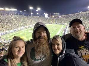 Robert attended University of Oregon Ducks vs. University of Arizona Wildcats - NCAA Football on Nov 16th 2019 via VetTix