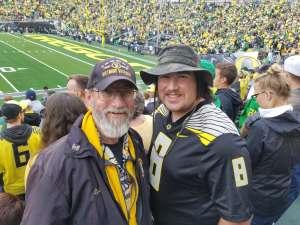Lyle attended University of Oregon Ducks vs. University of Arizona Wildcats - NCAA Football on Nov 16th 2019 via VetTix