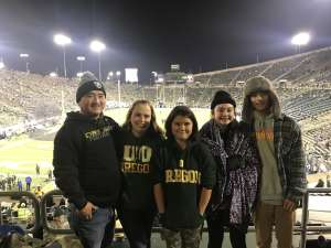 Tyler attended University of Oregon Ducks vs. University of Arizona Wildcats - NCAA Football on Nov 16th 2019 via VetTix