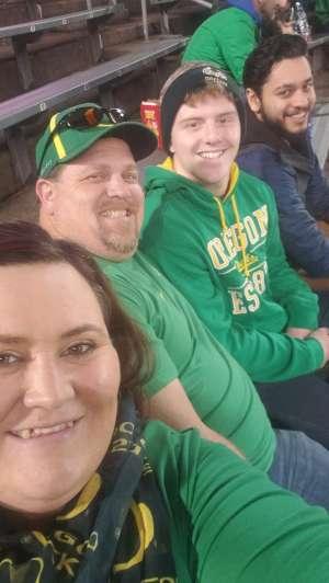 Kristen attended University of Oregon Ducks vs. University of Arizona Wildcats - NCAA Football on Nov 16th 2019 via VetTix