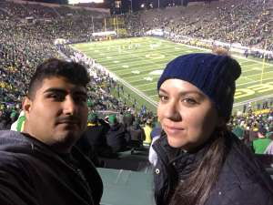 Atom attended University of Oregon Ducks vs. University of Arizona Wildcats - NCAA Football on Nov 16th 2019 via VetTix