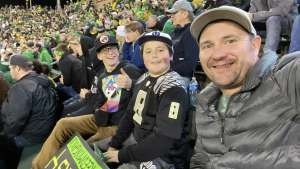 Darrin attended University of Oregon Ducks vs. University of Arizona Wildcats - NCAA Football on Nov 16th 2019 via VetTix