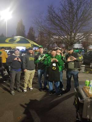 Brandon attended University of Oregon Ducks vs. University of Arizona Wildcats - NCAA Football on Nov 16th 2019 via VetTix