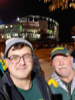 Fredrick attended University of Oregon Ducks vs. University of Arizona Wildcats - NCAA Football on Nov 16th 2019 via VetTix