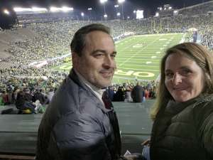 Michael attended University of Oregon Ducks vs. University of Arizona Wildcats - NCAA Football on Nov 16th 2019 via VetTix