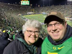 Adam attended University of Oregon Ducks vs. University of Arizona Wildcats - NCAA Football on Nov 16th 2019 via VetTix