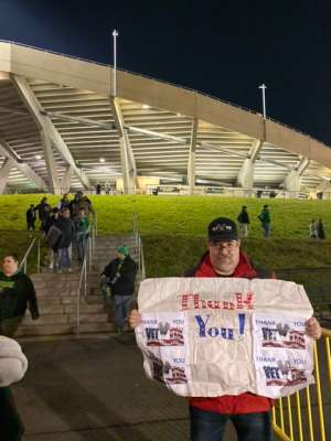 Jeffery attended University of Oregon Ducks vs. University of Arizona Wildcats - NCAA Football on Nov 16th 2019 via VetTix