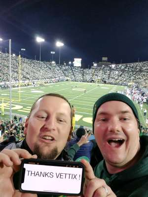 Daniel attended University of Oregon Ducks vs. University of Arizona Wildcats - NCAA Football on Nov 16th 2019 via VetTix